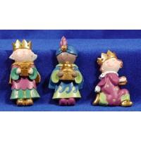 Reyes adorando iman infantil 7 cm resina PitPita