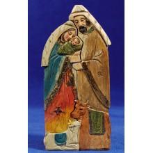 Nacimiento imitación madera 15 cm resina