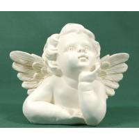 Busto de ángel sobremesa 14 cm resina