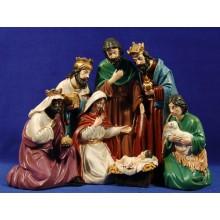 Nacimiento y reyes 30 cm resina