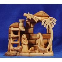 Nacimiento decoración 15 cm madera