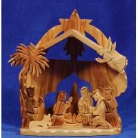 Nacimiento y reyes decoración 15 cm madera