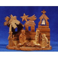 Nacimiento decoración 11 cm madera