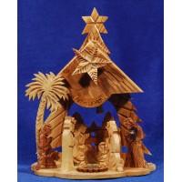 Nacimiento decoración 19 cm madera