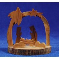 Nacimiento decoración 7 cm madera