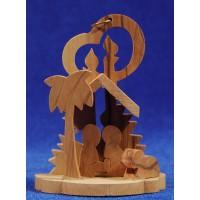 Nacimiento decoración 8 cm madera