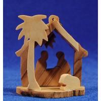 Nacimiento decoración 6 cm madera