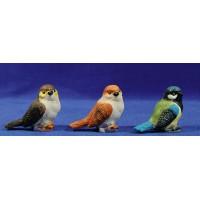 Conjunto tres pájaros 50 cm resina