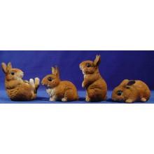 Grupo 4 conejos 120 cm resina
