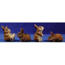 Grupo 4 conejos 60 cm resina