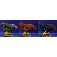 Gallina con pollitos 120 cm resina