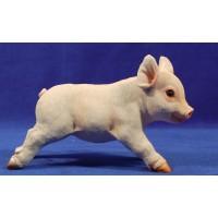 Cerdo cria corriendo 160 cm resina