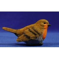 Pájaro pettirojo europeo 120 cm resina