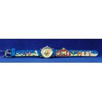 Reloj azul 19 cm látex