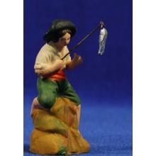 Pescador 8 cm barro pintado