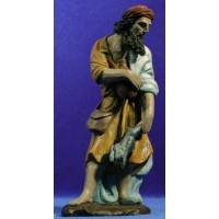 Shepherd with rabbit 21 cm clay painted Serrano