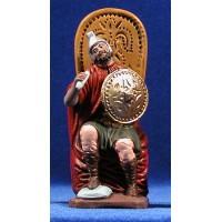 Herodes 12 cm barro pintado
