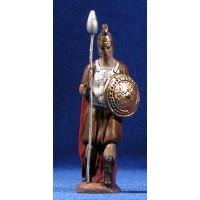 Soldado romano 8 cm barro pintado